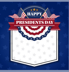 Happy presidents day banner background and vector