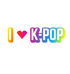 I love k pop vector