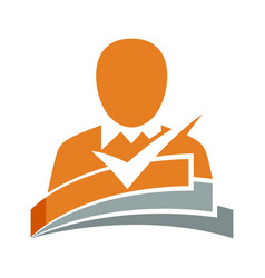 icon for curriculum vitae applicants vector image