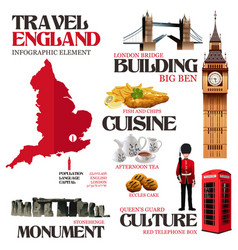 infographic elements for traveling to england vector image