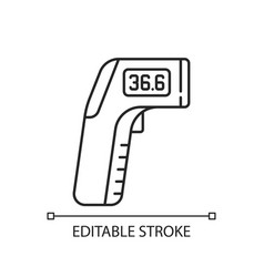 Infrared thermometer linear icon vector