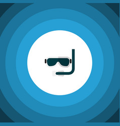 Isolated aqualung flat icon scuba diving vector