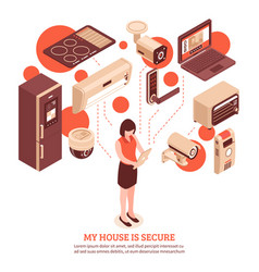 isometric smart home concept vector image