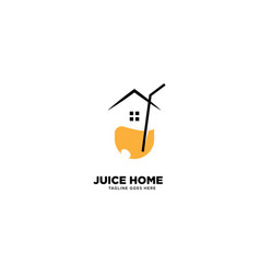 Juice home logo template icon element vector