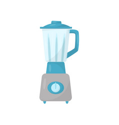 kitchen blender with glass jug electric mixing vector image