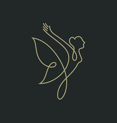 lady butterfly logo vector image