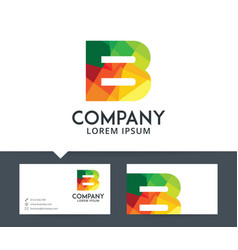 letter b - logo design vector image
