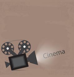 light camera retro style cinema viewing vintage vector image