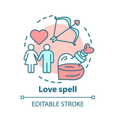 Love spell concept icon witchcraft and alchemy vector