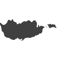 map of cyprus vector image