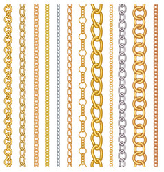 Metal chain pattern vector