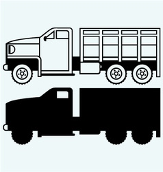 Military truck vector