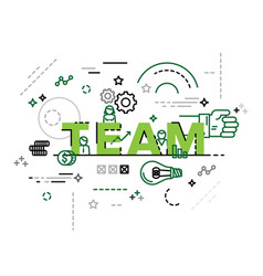 modern concept of word team vector image