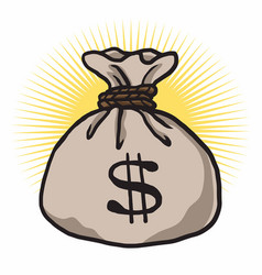 money bag cartoon dollar sign vector image