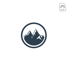 mountain hill logo design icon isolated vector image