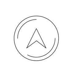 navigation line black icon vector image