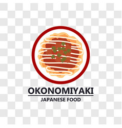okonomiyaki japanese food icon isolated vector image
