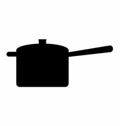pan dark silhouette vector image