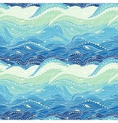 Pattern Sea Blue Big Light vector image