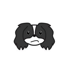 pekingese emoji confused multicolored icon signs vector image