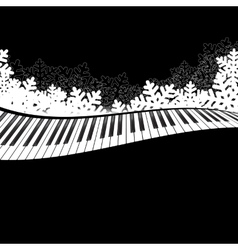 Piano template isolated vector image