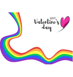 Poster with a rainbow for valentine39s day vector
