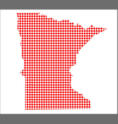 Red dot map of minnesota vector