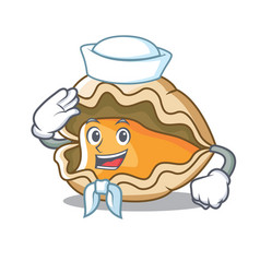 sailor oyster character cartoon style vector image