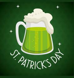 Saint patrick day beer vector