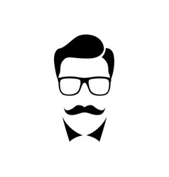 scientist man simple icon isolated vector image