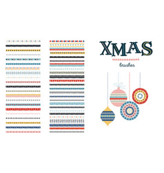seamless christmas and winter pattern brushes vector image