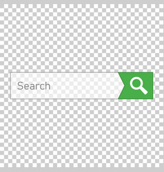 search bar ui element icon in flat style search vector image