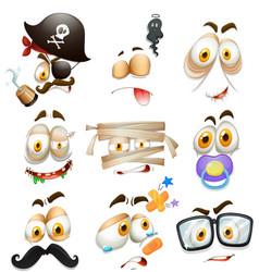 Set facial expression vector