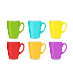 set of bright colorful cups vector image