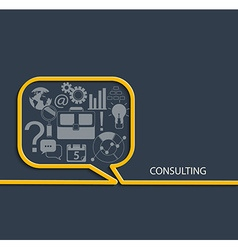 Set of consulting icon vector image