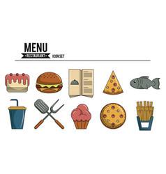 Set of menu restaurant vector