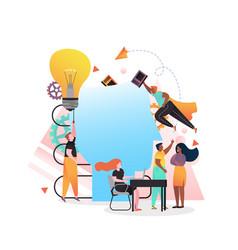 Skill development concept for web banner vector