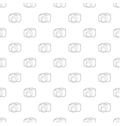 Slr camera icon outline style vector