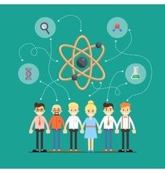 Social network and teamwork banner vector