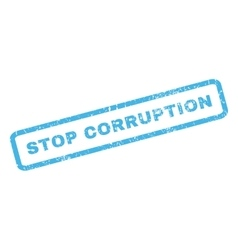 Stop Corruption Rubber Stamp vector