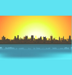 summer cityscape background vector image vector image