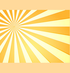 sun with rays star burst television vintage vector image