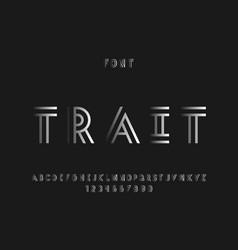 trait font alphabet letters vector image