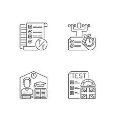 True false test pixel perfect linear icons set vector