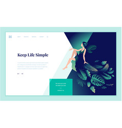 web page design template for beauty vector image
