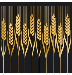 wheat ion black background vector image