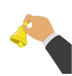 yellow bell in hand vector image