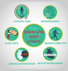 diagnosing heart disease logo icon design vector image vector image