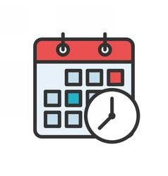 Meeting Deadlines Icon vector image vector image