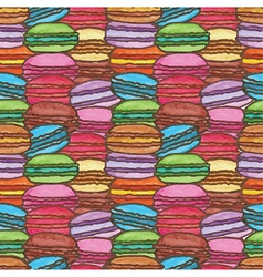 Seamless of colorful watercolor macarons vector image vector image
